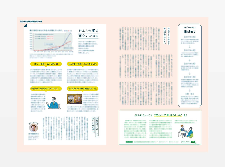 月刊fu 癌相談 イラスト