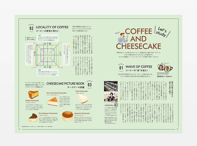 COFFEE & Cheesecake コーヒー&チーズケーキ イラスト