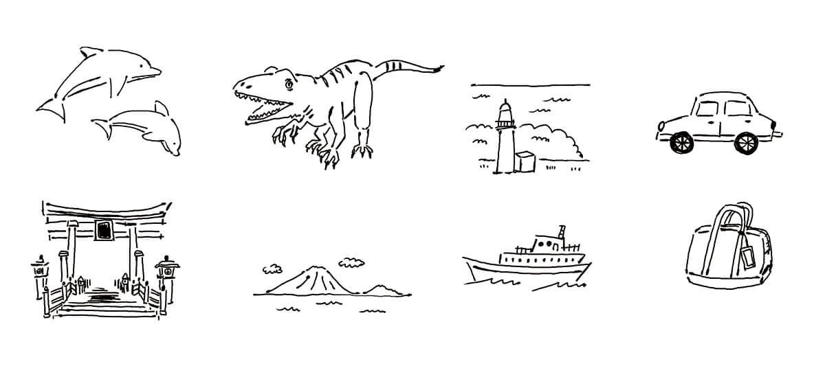 月刊fu 旅行マップ イラスト