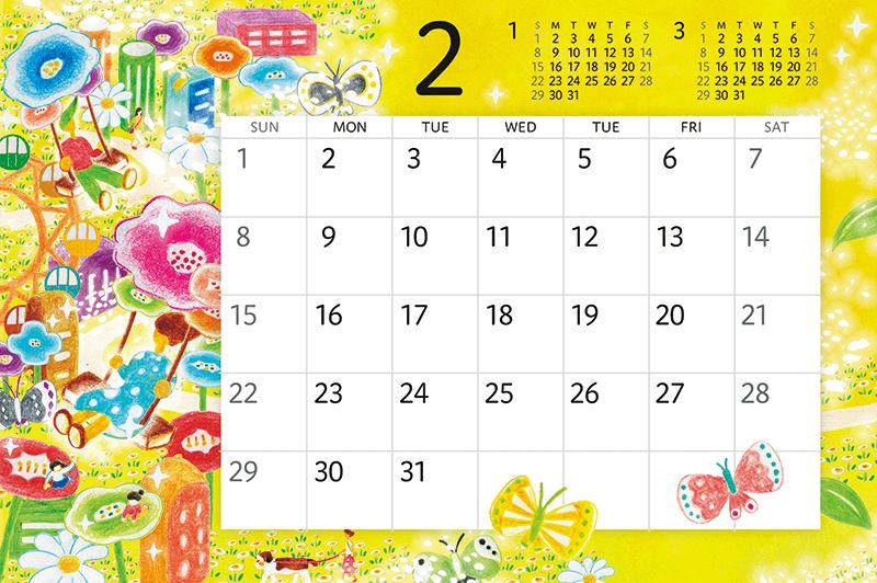 卓上カレンダー 花の都市
